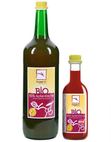 BIO 100% Apfel-Kirsch Saft