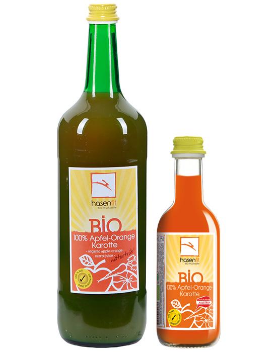 BIO 100% Apfel-Orange-Karotten Saft