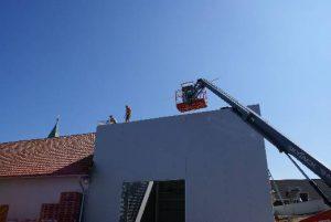 Bau des neuen Presshauses