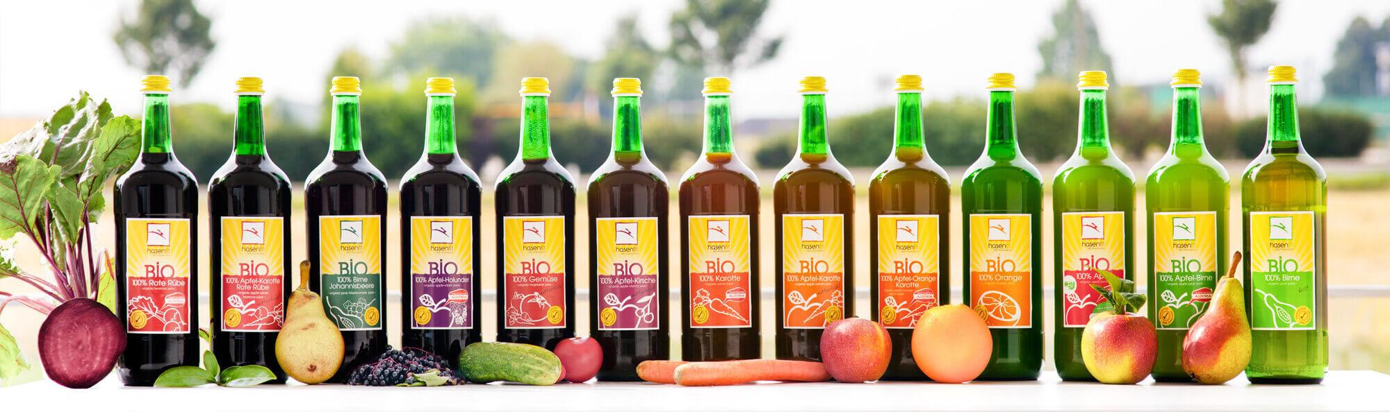 hasenfit BIO Fruchtsäfte - 1l Sortiment